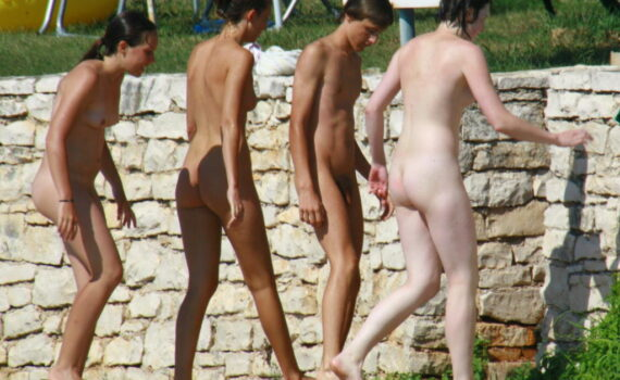 Teens and young nudists