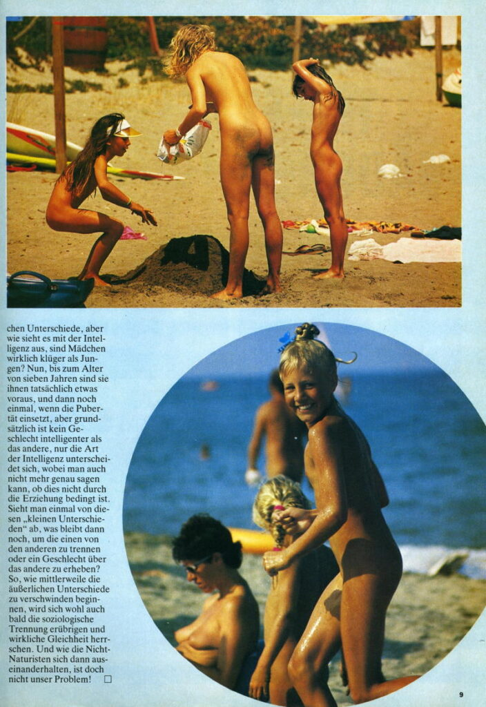 Photo gallery of nudist families
